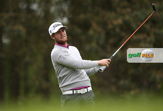 Lucas Bjerregaard (DEN) during Round Two of the 2015 BMW PGA Championship over the West Course at Wentworth, Virginia Water, London. 22/05/2015Picture David Lloyd, www.golffile.ie.