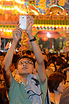 Donggang, Taiwan -- Spectator at the King Boat burning.