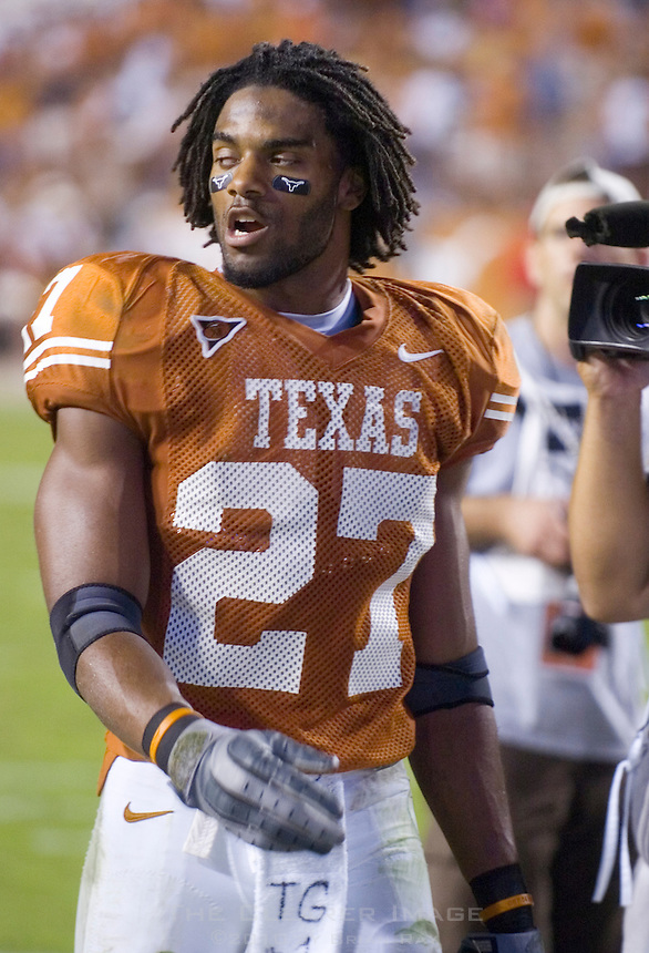 09 September 2006: Texas player Michael Griffin leaves the field following the Longhorns 24-7 loss to the Ohio State Buckeyes at Darrell K Royal Memorial Stadium in Austin, TX.