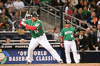15 March 2009: #32 Rod Barajas of Mexico is seen at bat during the 2009 World Baseball Classic Pool 1 game 2 at Petco Park in San Diego, California, USA. Korea wins 8-2 over Mexico.