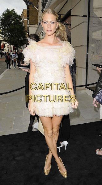 Poppy Delevingne<br /> The Chanel new flagship boutique launch party, Chanel, New Bond St., London, England.<br /> June 10th, 2013<br /> full length white ruffle frills dress gold shoes <br /> CAP/CAN<br /> &copy;Can Nguyen/Capital Pictures