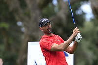 Alvaro Quiros (ESP) tees off the 11th tee during Friday's storm delayed Round 2 of the Andalucia Valderrama Masters 2018 hosted by the Sergio Foundation, held at Real Golf de Valderrama, Sotogrande, San Roque, Spain. 19th October 2018.<br /> Picture: Eoin Clarke | Golffile<br /> <br /> <br /> All photos usage must carry mandatory copyright credit (&copy; Golffile | Eoin Clarke)