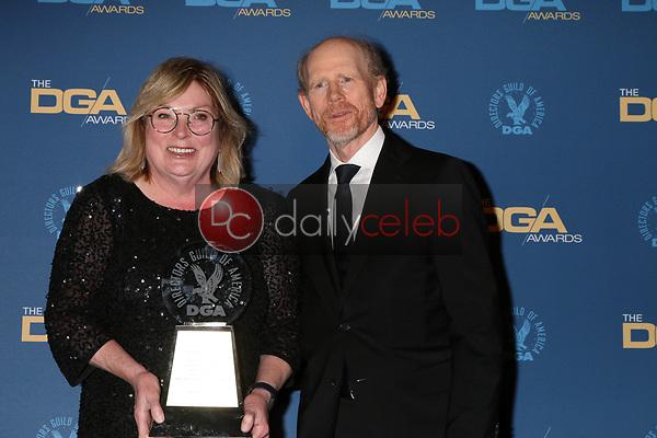Kathleen McGill, Ron Howard<br /> at the 71st Annual Directors Guild Of America Awards Press Room, Dolby Ballroom, Hollywood, CA 02-02-19<br /> David Edwards/DailyCeleb.com 818-249-4998