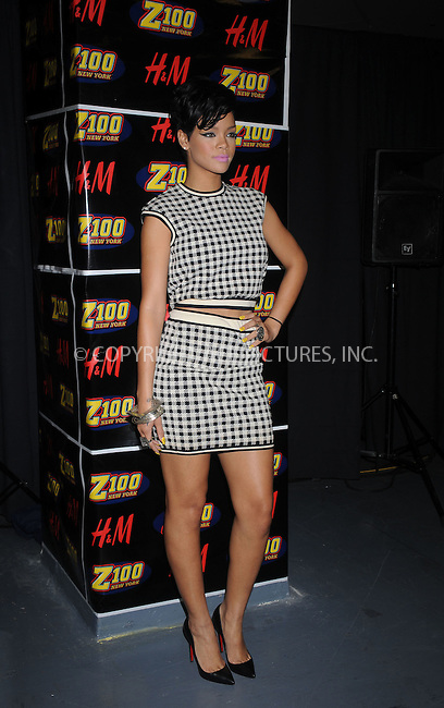 WWW.ACEPIXS.COM . . . . . ....December 12 2008, New York City....Singer Rihanna in the press room at Z100's Jingle Ball at Madison Square Garden on December 12, 2008 in New York City.....Please byline: KRISTIN CALLAHAN - ACEPIXS.COM.. . . . . . ..Ace Pictures, Inc:  ..tel: (212) 243 8787 or (646) 769 0430..e-mail: info@acepixs.com..web: http://www.acepixs.com