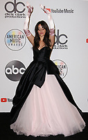 LOS ANGELES, CA - OCTOBER 09: Camila Cabello, winner of the New Artist of the Year presented by Capital One Savor Card award poses in the press room during the 2018 American Music Awards at Microsoft Theater on October 9, 2018 in Los Angeles, California. <br /> CAP/MPI/IS<br /> &copy;IS/MPI/Capital Pictures