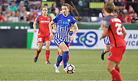 Portland, OR - Saturday May 27, 2017: Morgan Andrews during a regular season National Women's Soccer League (NWSL) match between the Portland Thorns FC and the Boston Breakers at Providence Park.