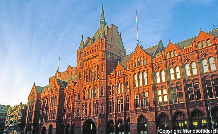London: Prudential Assurance Building, Holborn. Alfred Waterhouse, 1899-1906.