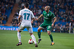 Real Madrid Lucas Vazquez and Leganes Nordin Amrabat during King's Cup match between Real Madrid and Leganes at Santiago Bernabeu Stadium in Madrid, Spain. January 24, 2018. (ALTERPHOTOS/Borja B.Hojas)