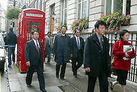 WALKING THE LONDON STREET=.MEMEBERS OF THE NORTH KOREAN WORLD CUP TEAM OF 1966- PICTURE  BY MARCELLO POZZETTI FOR THE TIMES NEWSPAPERS- MARCELLO POZZETTI 21 DELISLE ROAD LONDON SE28 0JD=TEL 02088551008 - FAX: 02088551937 - MOBILE 07973308835
