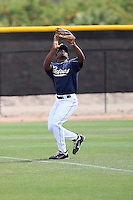 Everett Williams #22 of the San Diego Padres plays in minor league spring training game against the Seattle Mariners at the Padres minor league complex on March 19, 2011  in Peoria, Arizona. .Photo by:  Bill Mitchell/Four Seam Images.