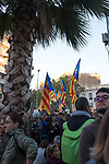 More than 750,000 people crowd onto Carrer de La Marina, Barcelona, to protest the jailing of Catalan government ministers and civil society leaders on Saturday November 11, 2017.