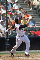 Richmond Flying Squirrels outfielder Juan Perez #2 at bat during a game against the Trenton Thunder at The Diamond on May 27, 2012 in Richmond, Virginia. Richmond defeated Trenton by the score of 5-2. (Robert Gurganus/Four Seam Images)