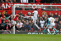 Pictured: Chico Flores (C). <br /> Sunday 12 May 2013<br /> Re: Barclay's Premier League, Manchester City FC v Swansea City FC at the Old Trafford Stadium, Manchester.