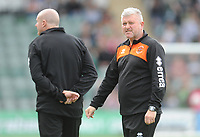 Blackpool's Manager Terry McPhillips during the pre-match warm-up <br /> <br /> Photographer Kevin Barnes/CameraSport<br /> <br /> The EFL Sky Bet League One - Plymouth Argyle v Blackpool - Saturday 15th September 2018 - Home Park - Plymouth<br /> <br /> World Copyright &copy; 2018 CameraSport. All rights reserved. 43 Linden Ave. Countesthorpe. Leicester. England. LE8 5PG - Tel: +44 (0) 116 277 4147 - admin@camerasport.com - www.camerasport.com