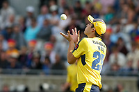 Hampshire's Chris Wood taking a catch to dismiss Notts Outlaws' Brendan Taylor<br /> <br /> Photographer Andrew Kearns/CameraSport<br /> <br /> NatWest T20 Blast Semi-Final - Hampshire v Notts Outlaws - Saturday 2nd September 2017 - Edgbaston, Birmingham<br /> <br /> World Copyright &copy; 2017 CameraSport. All rights reserved. 43 Linden Ave. Countesthorpe. Leicester. England. LE8 5PG - Tel: +44 (0) 116 277 4147 - admin@camerasport.com - www.camerasport.com