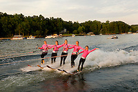 Carolina Show Ski team performing on Lake Wylie in Tega Cay, SC.