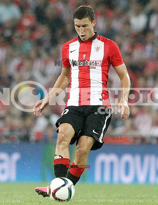 Athletic de Bilbao's Oscar de Marcos during Supercup of Spain 1st match.August 14,2015. (ALTERPHOTOS/Acero)
