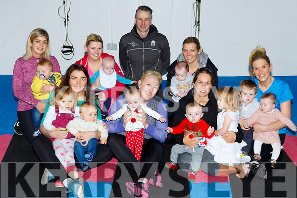 The Mums and Babies workout class who meet evey Monday to excercise in New Street Studio Killarney front l-r: Molly, eilish and Danielle Moriarty, Roisin, Sarah and Fionn Doona, Lara and Erin O'Brien. Back row: Mary and Ruadhan Hogan, Ailbhe anad Cillian O'Connor, Michael Linsay trainer, Mary and Susie Brosnan, Charlene, Noah and Bella Brosnan