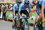 Movistar Team with Nairo Quintana (COL) recon Stage 1 of La Vuelta 2019, a team time trial running 13.4km from Salinas de Torrevieja to Torrevieja, Spain. 24th August 2019.<br /> Picture: Eoin Clarke | Cyclefile<br /> <br /> All photos usage must carry mandatory copyright credit (© Cyclefile | Eoin Clarke)