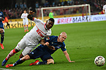 15.04.2019, RheinEnergieStadion, Koeln, GER, 2. FBL, 1.FC Koeln vs. Hamburger SV ,<br />  <br /> DFL regulations prohibit any use of photographs as image sequences and/or quasi-video<br /> <br /> im Bild / picture shows: <br /> fouzl vo Rick van Drongelen (HSV #4), gegen Jhon Córdoba (FC Koeln #15),   <br /> <br /> Foto © nordphoto / Meuter
