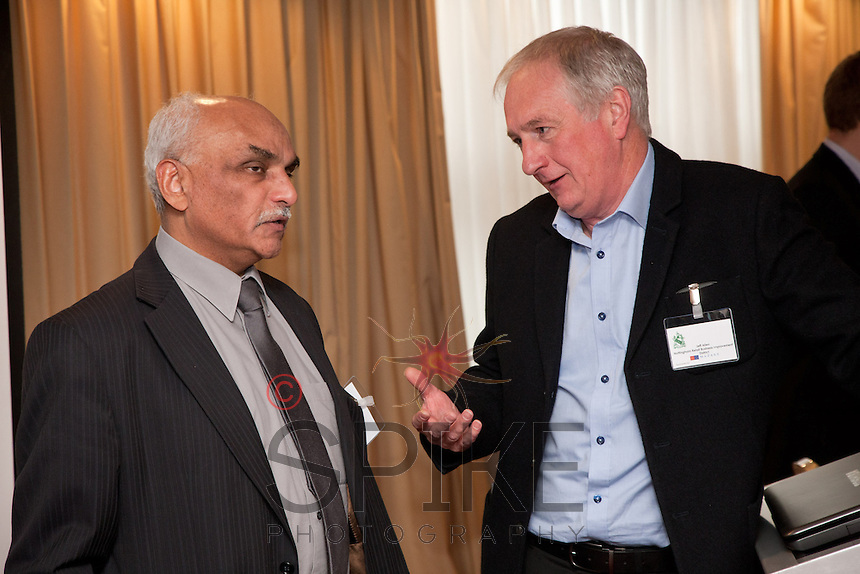 Lab Hindocha of Hinocha & Co Accountants with Jeff Allen, Retail BID chairman