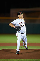 Scottsdale Scorpions pitcher Taylor Rogers (39) delivers a pitch during an Arizona Fall League game against the Salt River Rafters on October 14, 2015 at Scottsdale Stadium in Scottsdale, Arizona.  Scottsdale defeated Salt River 13-3.  (Mike Janes/Four Seam Images)