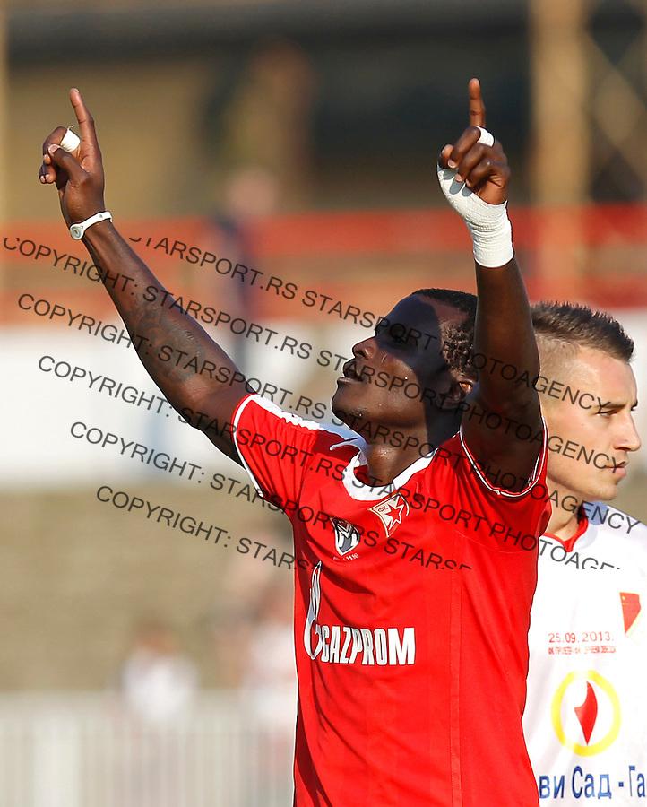 Fudbal Kup Srbije season 2013-2014<br /> Proleter Novi Sad v Crvena Zvezda<br /> Abiola Dauda celebrates the goal<br /> Novi Sad, 25.09.2013.<br /> foto: Srdjan Stevanovic/Starsportphoto &copy;