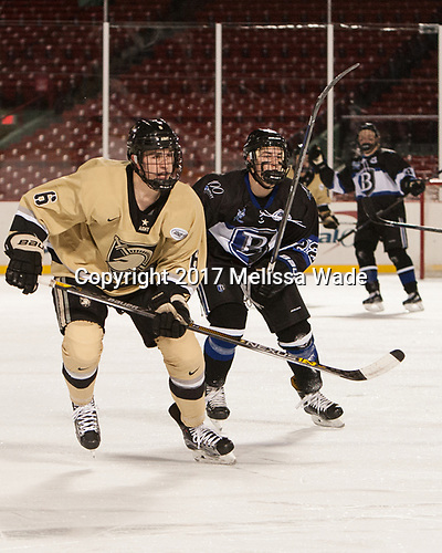 Nick DeCenzo (Army - 6), Ryner Gorowsky (Bentley - 22) - The Bentley University Falcons defeated the Army West Point Black Knights 3-1 (EN) on Thursday, January 5, 2017, at Fenway Park in Boston, Massachusetts.The Bentley University Falcons defeated the Army West Point Black Knights 3-1 (EN) on Thursday, January 5, 2017, at Fenway Park in Boston, Massachusetts.