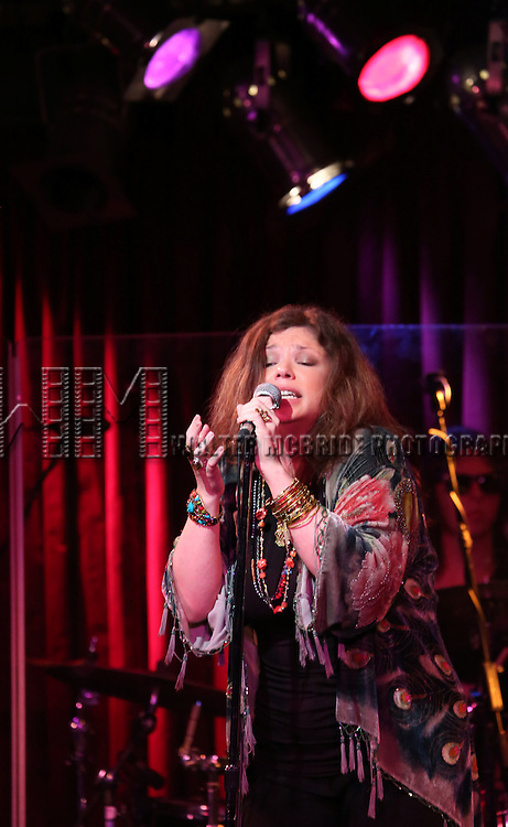 "Mary Bridget Davies as Janis Joplin performing a musical presentation of ""A NIGHT WITH JANIS JOPLIN"" at B.B. King Blues Club & Grill on July 29, 2013 in New York City."