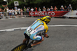 Astana team rider Lance Armstrong (USA) rounds the hairpin during the Prologue Stage 1 of the 2009 Tour de France a 15.5km individual time trial held around Monaco. 4th July 2009 (Photo by Eoin Clarke/NEWSFILE)