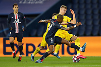 Paris St Germain's Presnel Kimpembe in action with Borussia Dortmund's Erling Braut Haaland    <br /> Photo Pool/Panoramic/Insidefoto