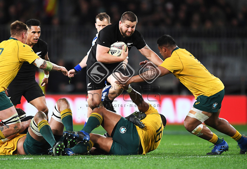 Dane Coles.<br /> Bledisloe Cup and Rugby Championship test match. New Zealand All Blacks v Australian Wallabies at Forsyth Barr Stadium, Dunedin, New Zealand. Saturday 26 August 2017. © Copyright photo: Andrew Cornaga / www.Photosport.nz