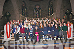 Confirmations at St. Mary's Church, Dingle, on Friday noon: pupils from Scoil an Chlochar Daingean, Scoil Cheann Tra, Scoil an Ghleanna, CBS Dingle, Scoil Chaitlín Naofa Cill Mhic a'Domhnaigh, and Scoil Eoin Baiste Lios Pól, with their teachers, Mons. Bill Murphy and assistant celebrants..