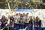 COLUMBUS, OH - MARCH 11:  Confetti falls during the Division I Rifle Championships held at The French Field House on the Ohio State University campus on March 11, 2017 in Columbus, Ohio. (Photo by Jay LaPrete/NCAA Photos via Getty Images)