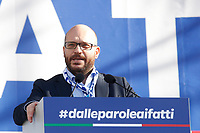 Lorenzo Fontana Minister of family and disability<br /> Rome December 8th 2018. Rally of Lega Nord Party 'Italians first' in Piazza del Popolo.<br /> Foto Insidefoto
