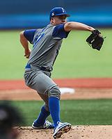Luis Lugo pitcher inicial de Italia realiza lanzamientos en el primer inning, durante el partido entre Italia vs Puerto Rico, World Baseball Classic en estadio Charros de Jalisco en Guadalajara, Mexico. Marzo 12, 2017. (AP Photo/Luis Gutierrez)
