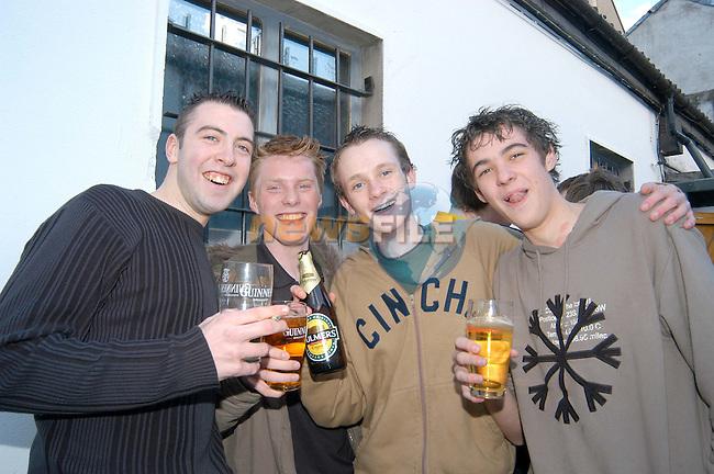 Robert Murray,Donal Murphy,Eoin Murray and Robert McGraine at McPhails..Photo Colin Bell/Newsfile