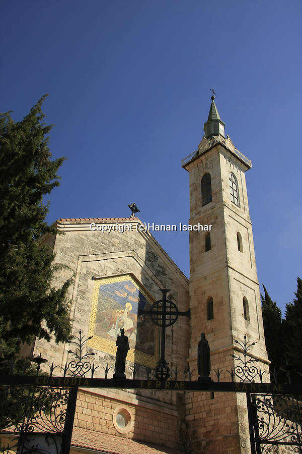 Israel, Jerusalem Mountains, the Church of the Visitation in Ein Karem