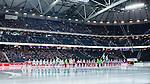 Solna 2014-03-16 Bandy SM-final herrar Sandvikens AIK - V&auml;ster&aring;s SK :  <br /> Lineup i Friends Arena innan SM-finalen mellan Sandvikens AIK och V&auml;ster&aring;s SK <br /> (Foto: Kenta J&ouml;nsson) Nyckelord:  SM SM-final final herr herrar VSK V&auml;ster&aring;s SAIK Sandviken  inomhus interi&ouml;r interior supporter fans publik supporters