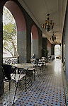 Outside Dining Area Inhabited This Consular Colonnade In Wenzhou (Wenchow).<br />