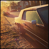 The sun lights up the frosty window of a car on Cherokee Street in the Germantown section of Philadelphia on January 8, 2013.
