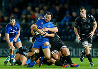 1st November 2019; RDS Arena, Dublin, Leinster, Ireland; Guinness Pro 14 Rugby, Leinster versus Dragons; James Lowe of Leinster is tackled by Joe Davies of Dragons - Editorial Use