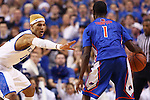UK forward Willie Cauley-Stein holding off Boise State guard Mikey Thompson during the first half of the UK basketball game vs. Boise State on Tuesday, December 10, 2013, in Lexington, Ky. Photo by Kalyn Bradford | Staff