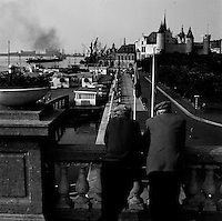 Juni 1961.  De kaaien aan de Schelde in Antwerpen.