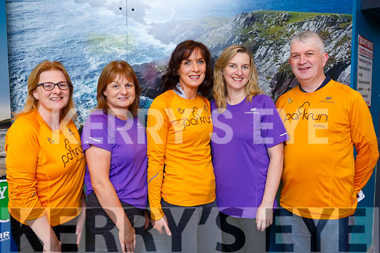 London bound from Kerry Airport on Friday evening last are, l to r, Moira Horgan (Ballyheigue), Monica Dillane (Tralee), Sinead Healy (Ballymac), Ellen and Sean Lynch (Ballymac) from the Tralee Parkrun.