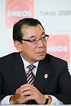 JX Yasushi Kimura, <br /> MARCH 18, 2015 : <br /> JX Nippon Oil &amp; Energy has Press conference <br /> in Tokyo. <br /> JX Nippon Oil &amp; Energy announced that <br /> it has entered into a partnership agreement with <br /> the Tokyo Organising Committee of the Olympic and Paralympic Games. <br /> With this agreement, JX Nippon Oil &amp; Energy becomes the gold partner. <br /> (Photo by YUTAKA/AFLO SPORT)