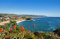 A view of Cresent Bay Beach from Point Park, Laguna Beach, California.