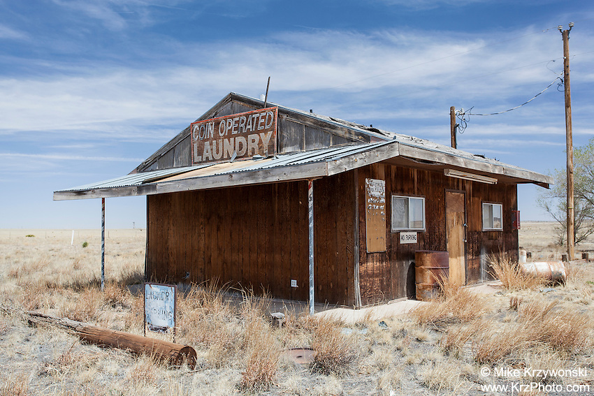 Abandoned Laundry Mat in Encino, NM