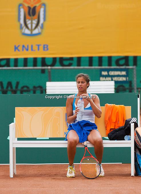12-08-13, Netherlands, Raalte,  TV Ramele, Tennis, NRTK 2013, National RankingTennis Championships 2013,  Joany Pontjoddikromo<br /> Photo: Henk Koster