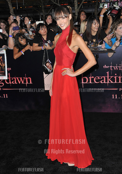 "Sharni Vinson at the world premiere of ""The Twilight Saga: Breaking Dawn - Part 1"" at the Nokia Theatre, L.A. Live in downtown Los Angeles..November 14, 2011  Los Angeles, CA.Picture: Paul Smith / Featureflash"